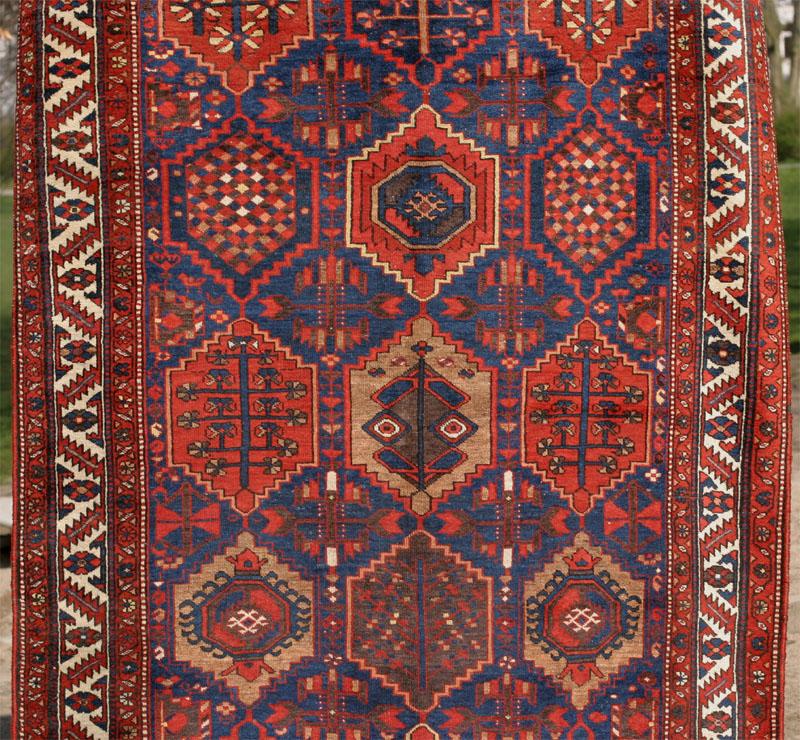 Kurdish Village Carpet With Hexagonal Grid, Around 1900-1920